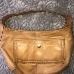 Vintage Coach small camel colored hobo